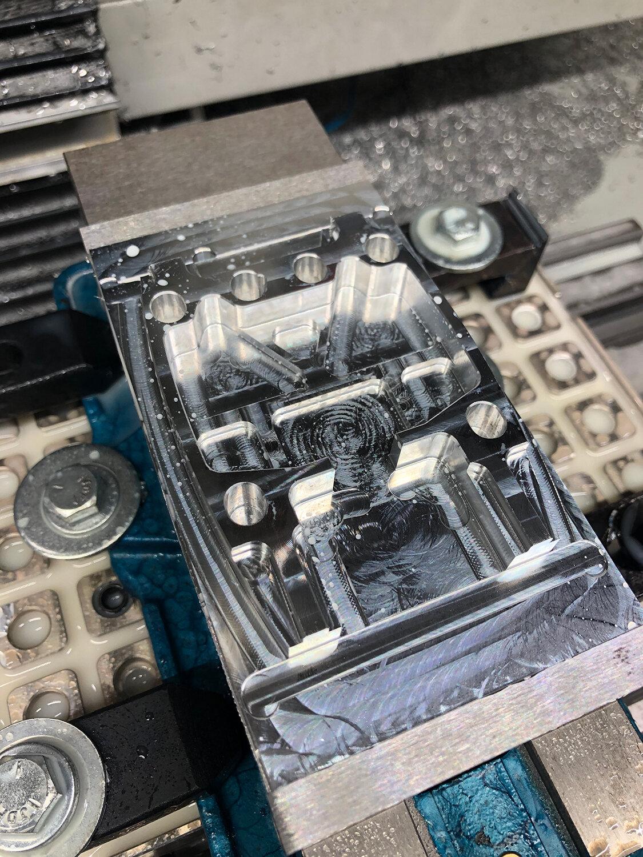 CNC milled bracket for 3D printer