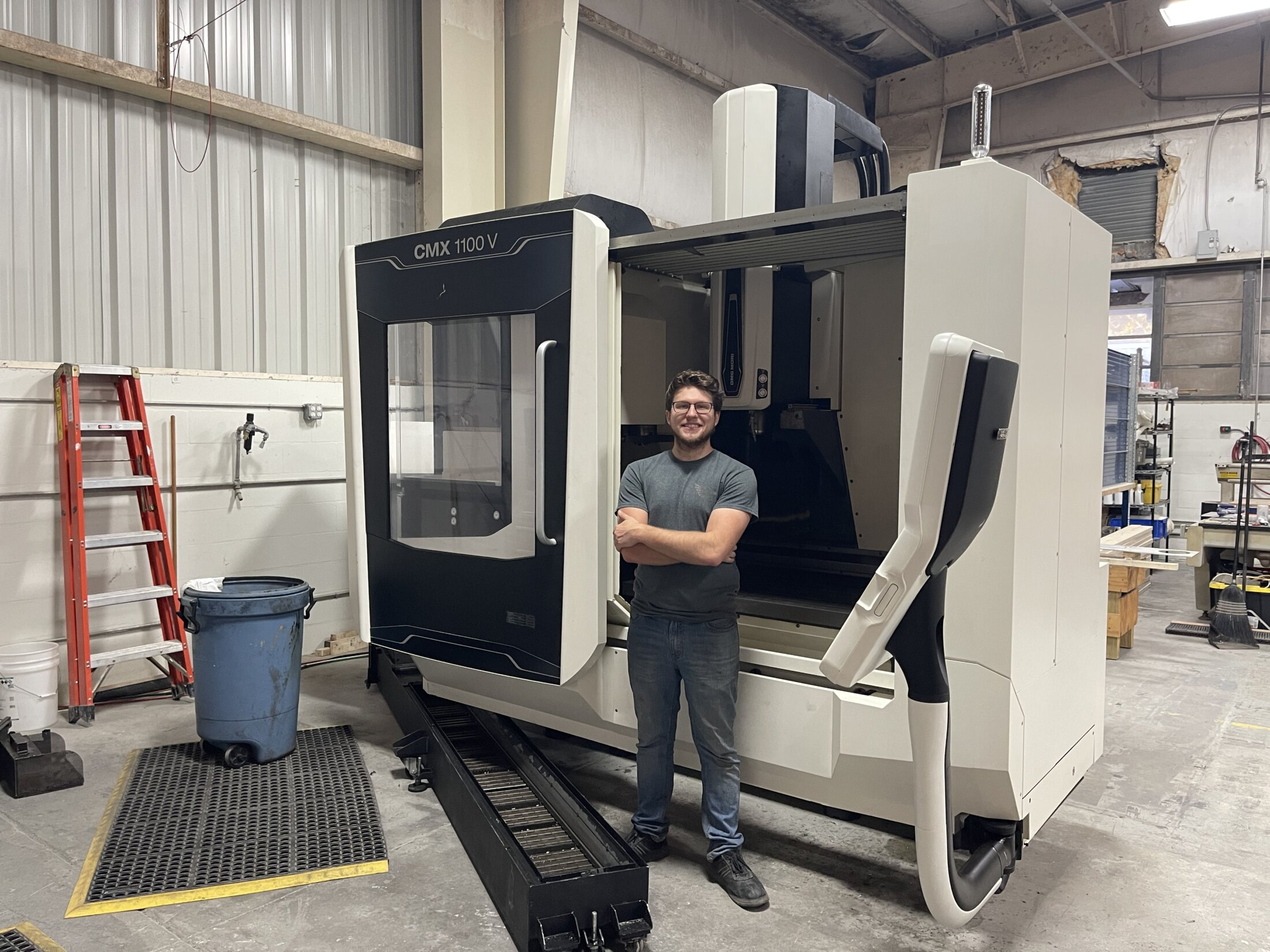 Nathan and our New Milling Machine